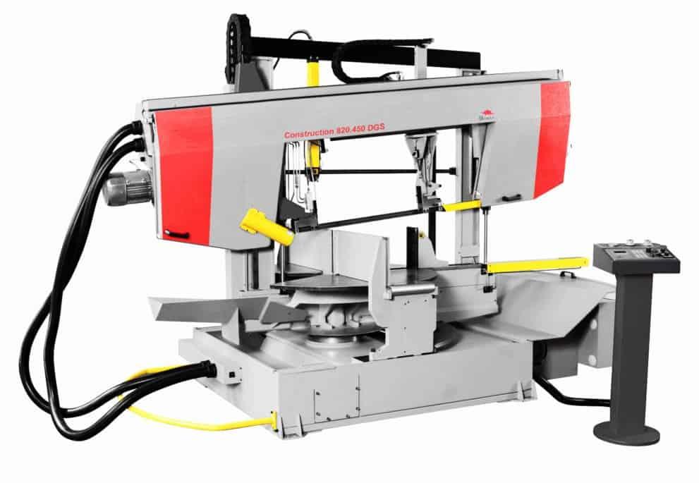 Станки ленточнопильные полуавтоматические двухстоечные для порезки профиля BOMAR Construction серия